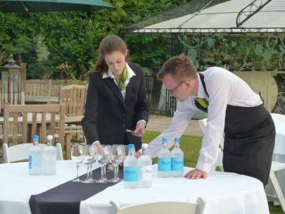 staff prepping event
